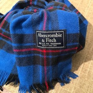 Abercrombie & Fitch Scarf Blue/Red New